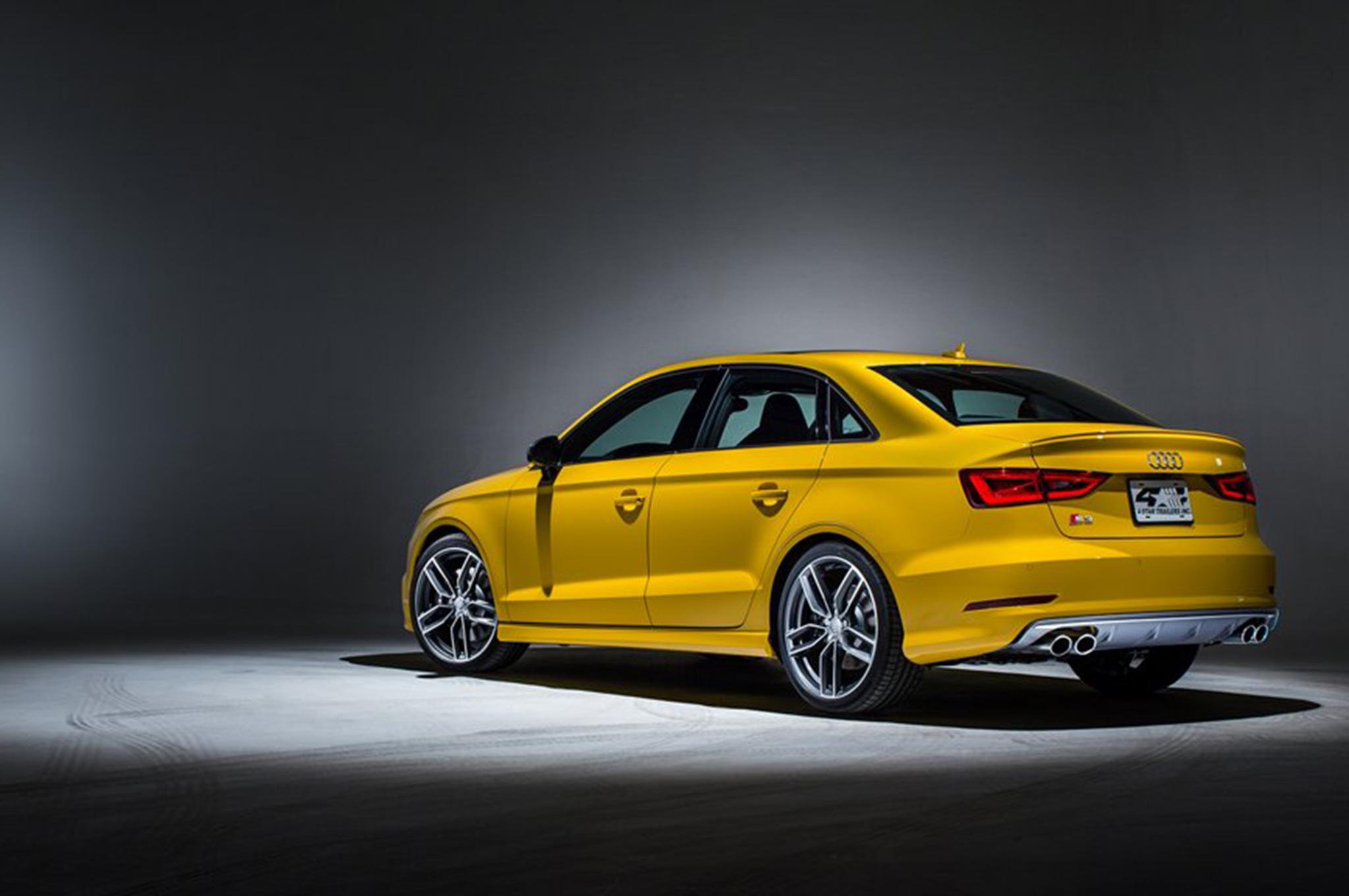 2015 Audi S3 exclusive edition yellow rear Audi S3 2017 giá bao nhiêu? động cơ và khả năng vận hành