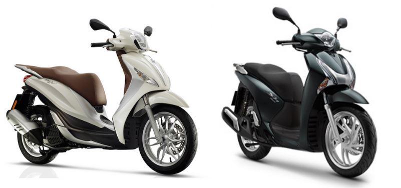 Honda SH 150 hay Honda Medley 150 giadinhvietnam So sánh Honda SH 150 và Piaggio Medley 150, nên mua xe nào?