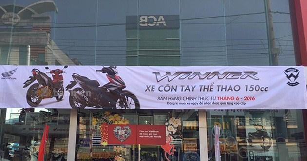 cac cua hang honda bat dau nhan dang ky mua winner 150 cua khach Honda thử sức xe côn tay Winner 150 trên đường trường