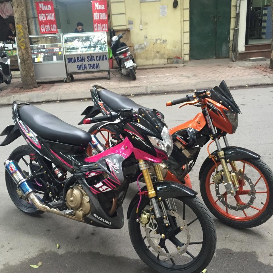 cap doi suzuki raider do cuc chat tai ha noi 5496 1454557863 56b2caa7bad85 Cực đẹp với cặp đôi xe độ Raider 150 tại sài gòn