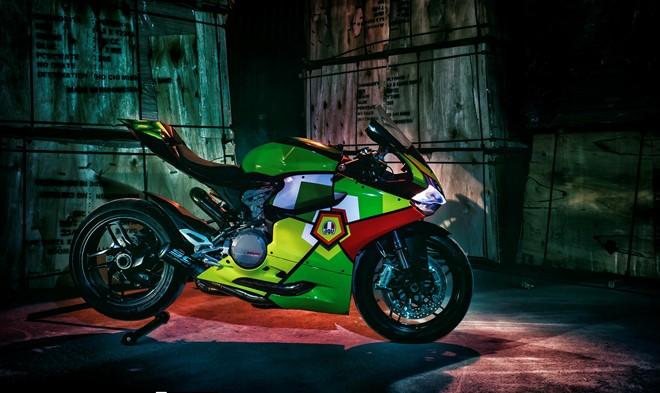 ducati 899 panigale do dac sac trong phien ban agv turtle corsa 9125 1455500883 56c12e5345405 Xem Ducati 899 Panigale độ đặc sắc trong phiên bản AGV Turtle Corsa