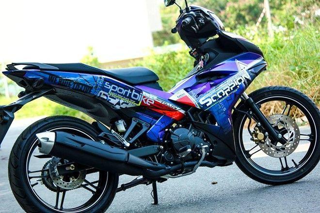 exciter2 Cận cảnh Exciter 150 độ áo mới sơn chuyển màu của biker Đà Lạt