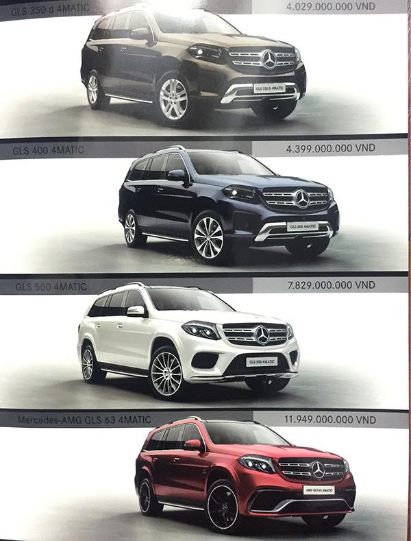 images1733872 Mercedes GLS Giá xe Mercedes tháng 7/2016 tăng mạnh tận tới 4,2 tỷ VNĐ