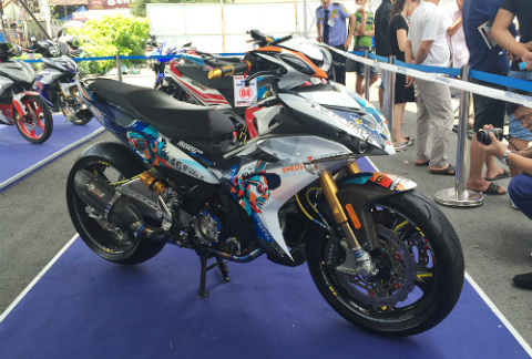 img 8225 jpg 2226 1467534063 Ngắm Exciter 150 độ phong cách xe đua của biker Sài Gòn