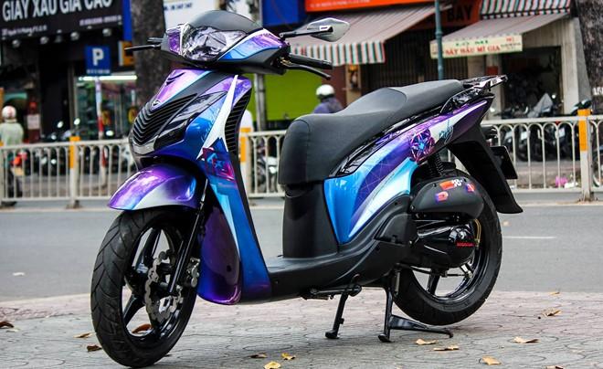 sh1 Ngắm xe Honda SH độ độc với họa tiết Kim Cương phong cách