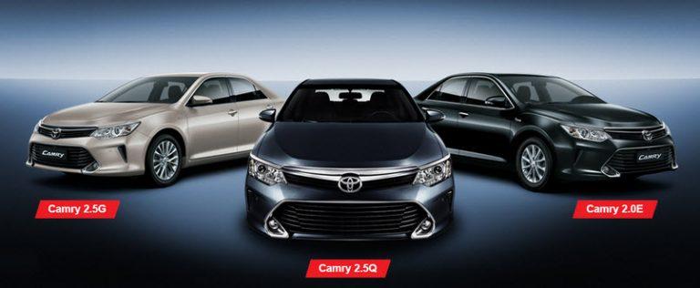 toyota camry 2016 13 768x316 Hãng Toyota Việt Nam (TMV) triệu hồi Camry 2.0E để cập nhật phần mềm