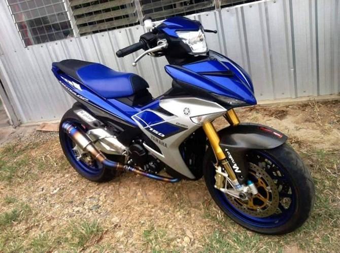 """yamaha exciter 150 do do choi khung cua sieu moto Yamaha Exciter 150 độ khủng với """"dàn chân"""" siêu môtô Aprilia RSV4"""
