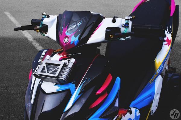 yamaha nouvo sx do sieu doc cua dan choi sai thanh hinh 2 Ngắm xe Yamaha Nouvo SX độ xe phong cách độc đáo